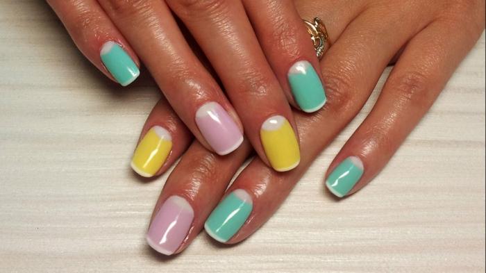 fingernägel design pastellfarben gelnägel nagellack ostern