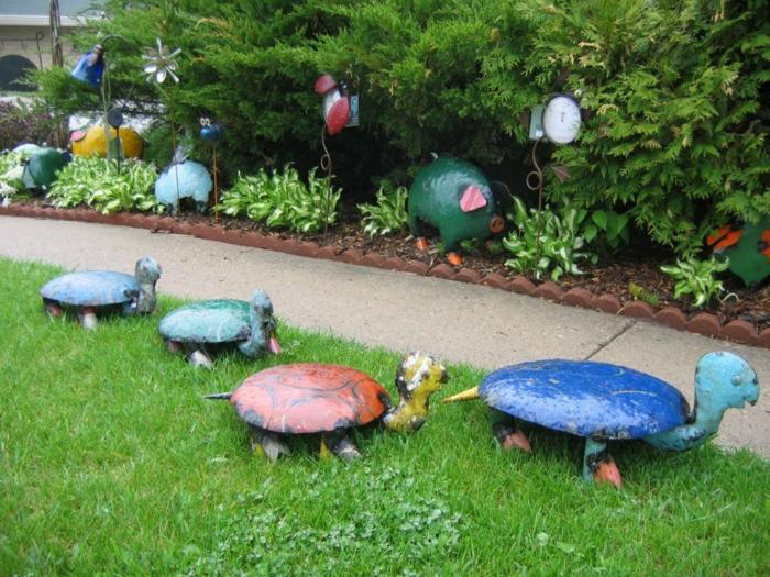 gartendeko ideen gartenaccessoires schildkröten gartenideen