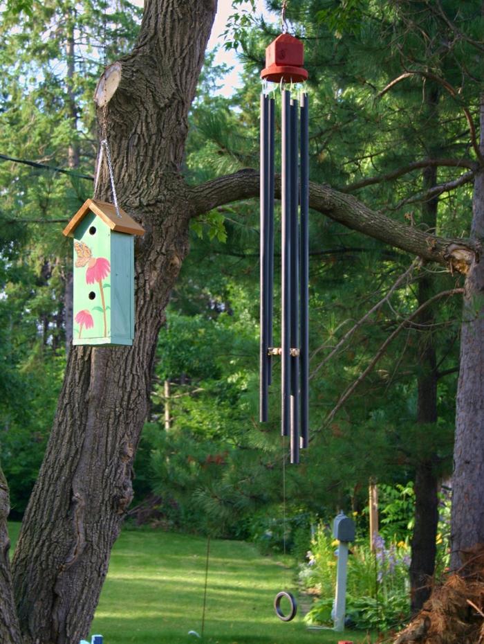 gartendeko ideen vogelhaus gartenideen