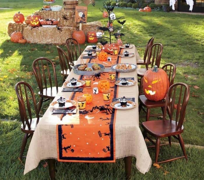gartenparty deko ideen halloween party thematisch