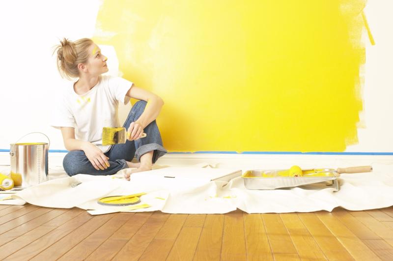 gelbe Wandfarbe Ideen Wände streichen Farbideen