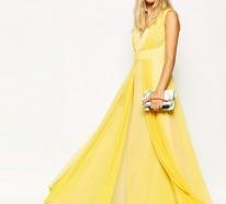 Sommerkleider lang gelb