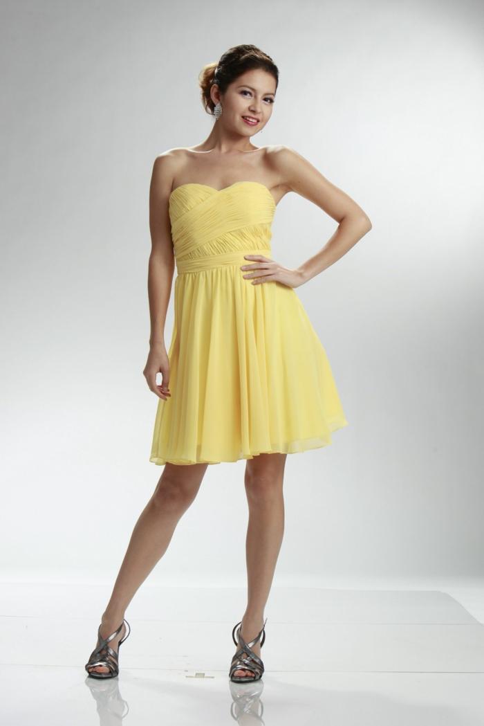 gelbes kleid spezieller anlass kurz frauenmode