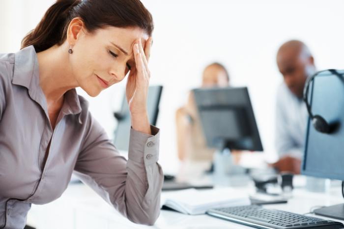 gesund zunehmen müde frau arbeit stress
