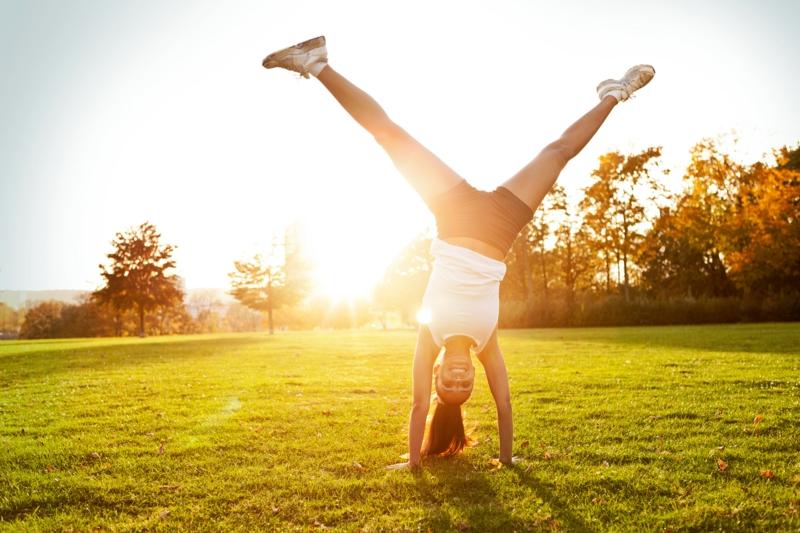 gesunde Lebensweise Spaß am Leben Sport treiben gesund essen