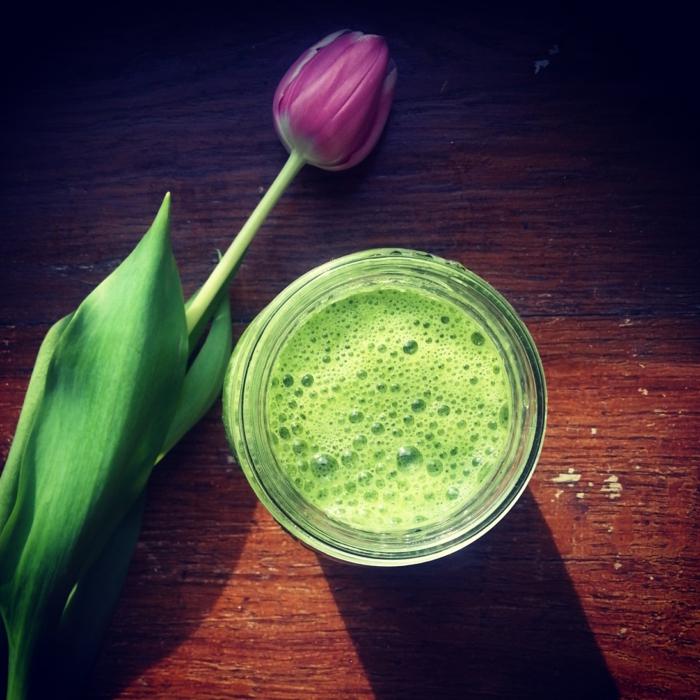 gesunde ernährung plan wasser grüne smoothies violette tulpe