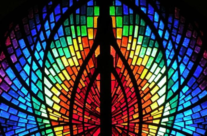 glas bemalen kirchenfesnster fragment