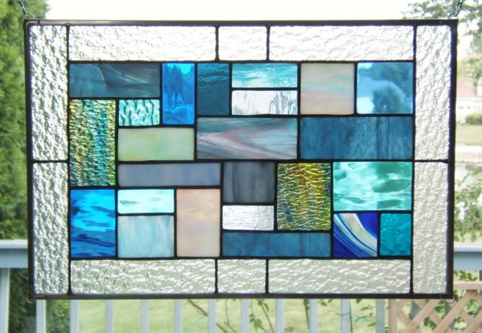 glas bemalen vitragen fenster blumenmuster collage
