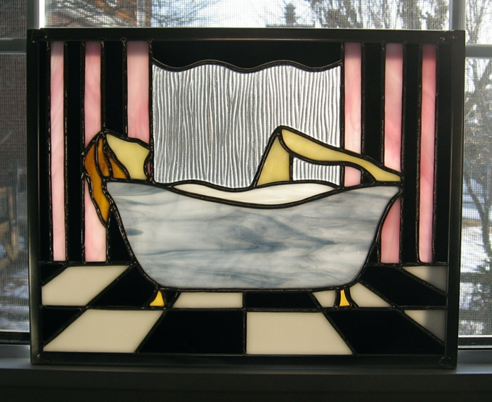 glas bemalen vitragen fenster moderne designs badewannnen motive