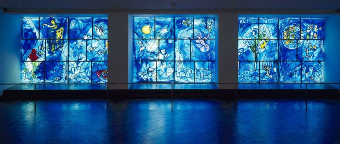 glas bemalen vitragen fenster moderne designs chagal