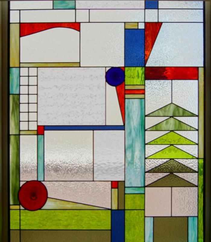 glas bemalen vitragen fenster moderne designs grün