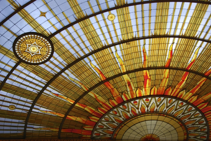 glas bemalen vitragen fenster moderne designs spanische kupel2