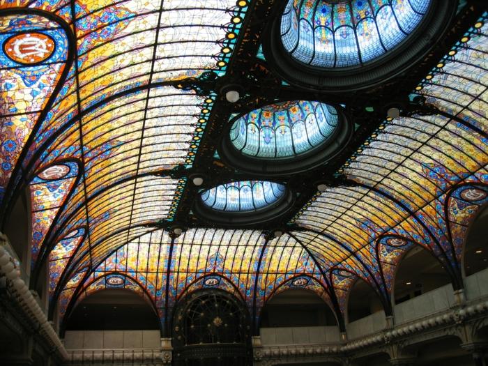 glas bemalen vitragen fenster moderne designs spanische kupel3