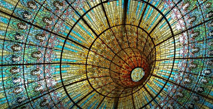 glas bemalen vitragen fenster moderne designs spanische kupel4