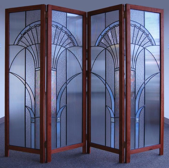 glas bemalen vitragen fenster moderne designs spanische wand