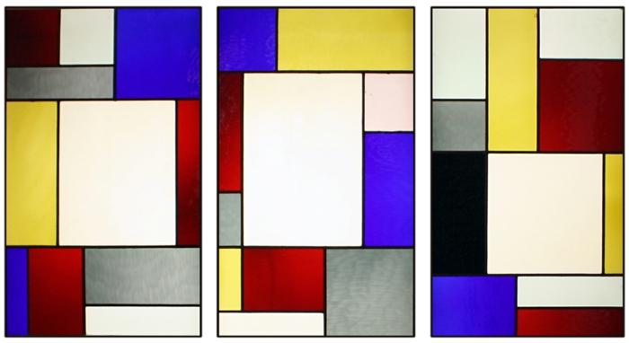 glas bemalen vitragen fenster tripartite
