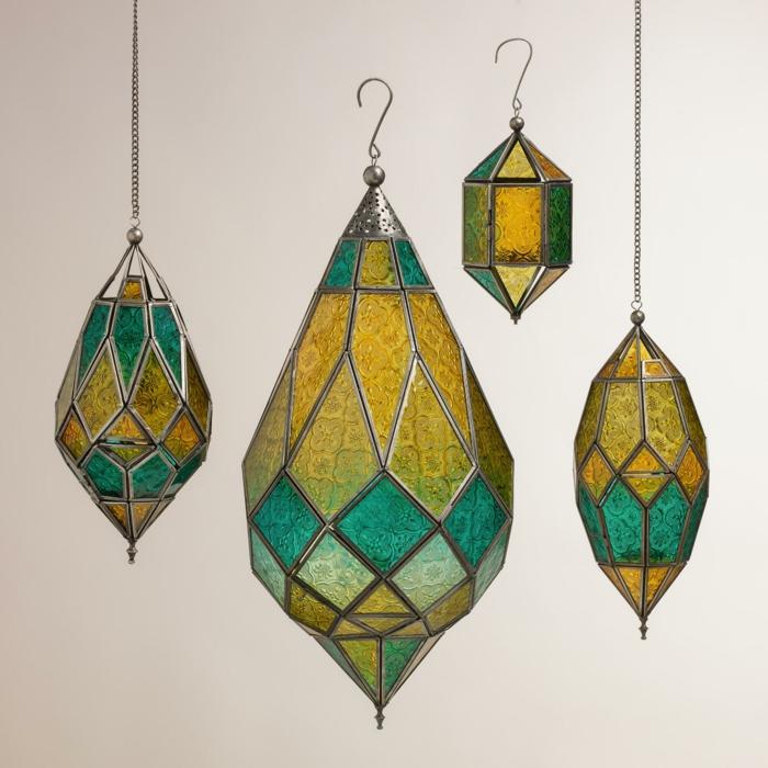 glas bemalen vitragen lampen