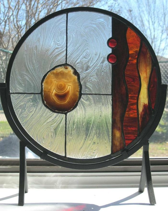 glas bemalen vitragen verspielt