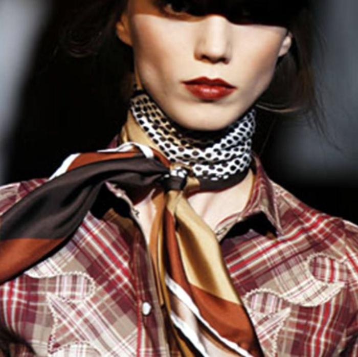 schal binden seide frühling varianten fashion