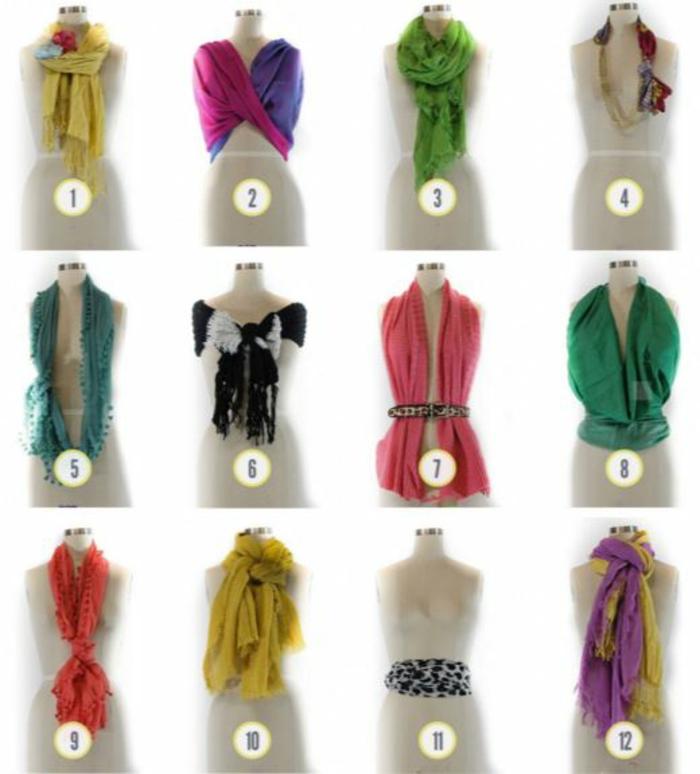 halstuch binden seide frühling varianten zum binden und tragen