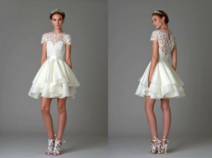 hochzeitskleider2016 brautkleider trends brautmode hochzeitsmode kurze kleider weiß