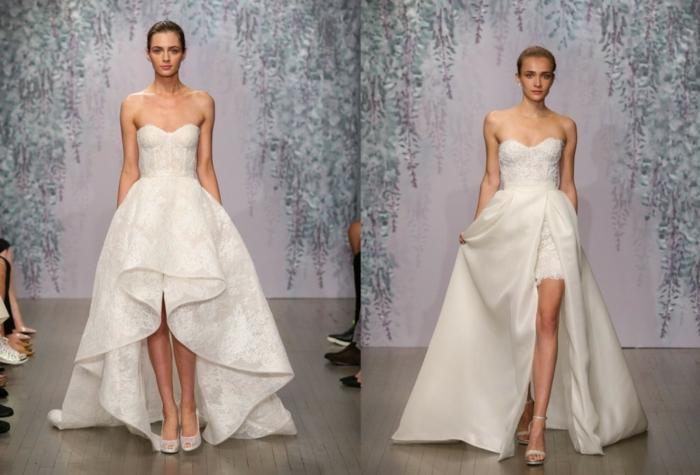 hochzeitskleider 2016 brautkleider trends trägerloses modell brautmode