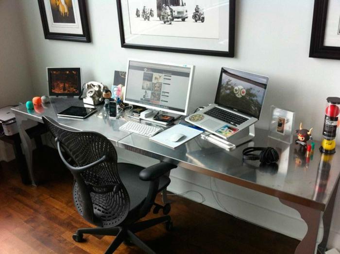 home office einrichten büro ergonomischer stuhl schreibtisch