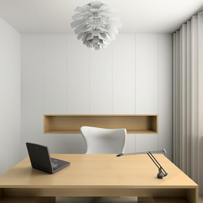 home office einrichten designer möbel pendelleuchte paul heningson artischocke