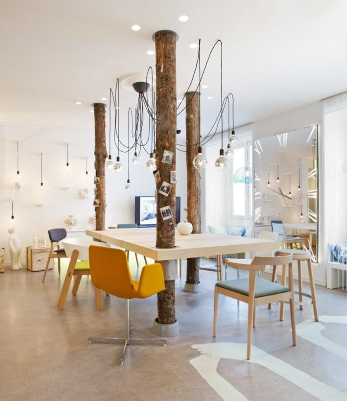 home office einrichten skandinavischer stil designer stühle schreibtische zusammenarbeit büro