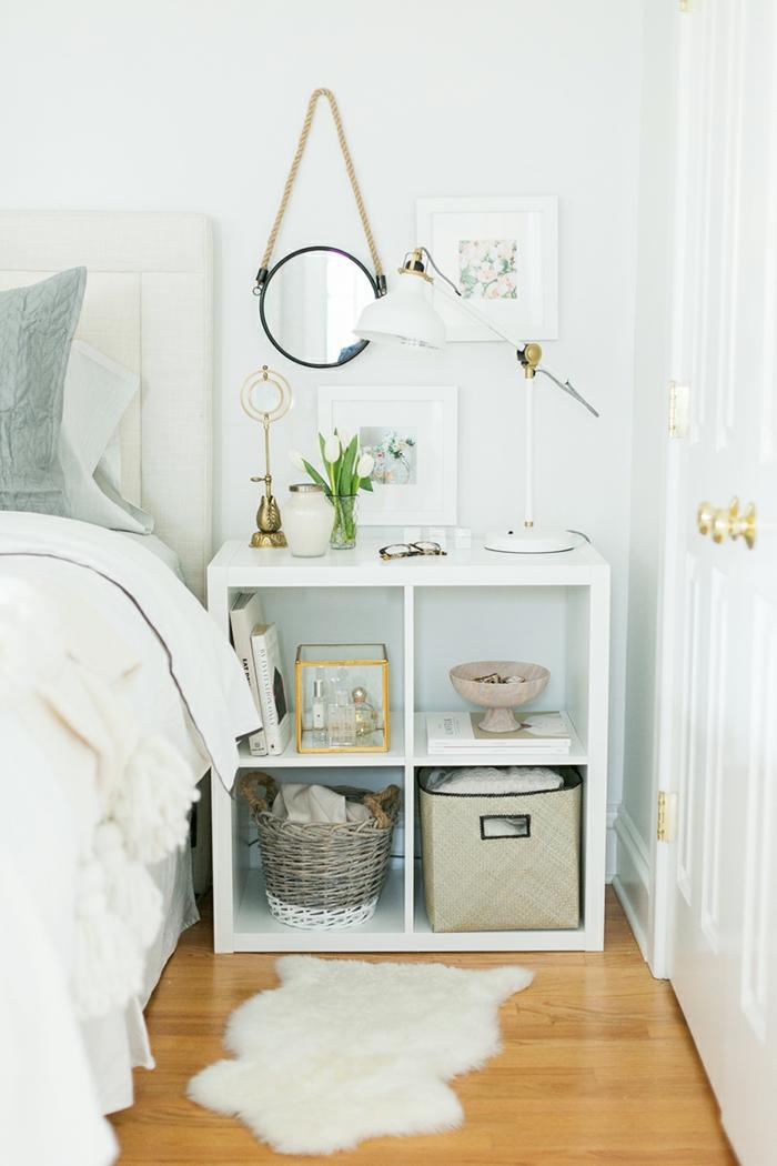 ikea expedit regal schubladen aufbewahrung schlafzimmer