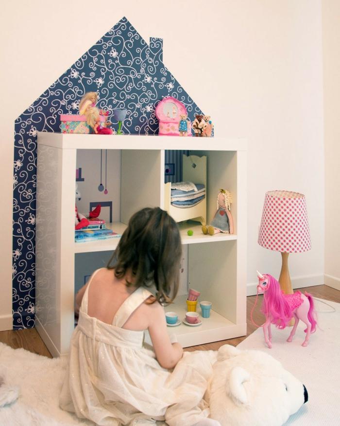 ikea regal expedit regal schubladen aufbewahrung vier rosa puppenhaus
