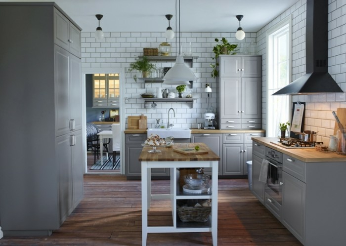 ikea möbel beistelltisch einrichtungsideen diy ideen küchenmöbel kücheninsel tisch weiß anstreichen