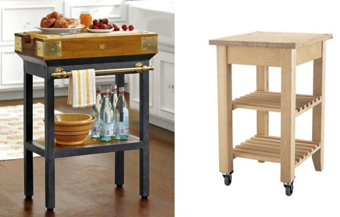 ikea möbel beistelltisch einrichtungsideen diy ideen küchenmöbel küchenwagen beistelltisch rollen