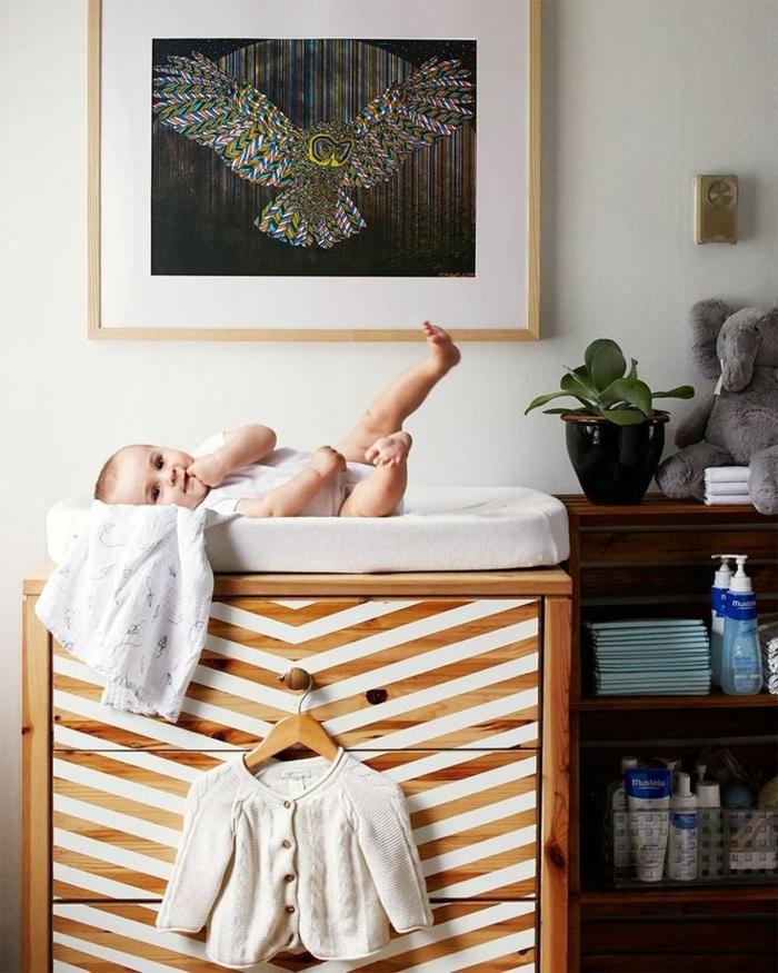 ikea beistelltisch einrichtungsideen diy ideen kinderzimmer babyzimmer kommode baby