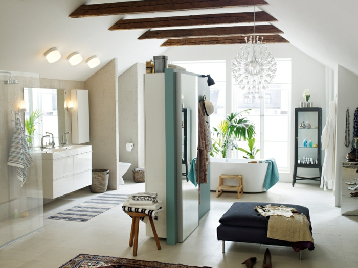 ikea möbel beistelltisch einrichtungsideen tritthocker badewanne badezimmer badmöbel schwebender waschtisch
