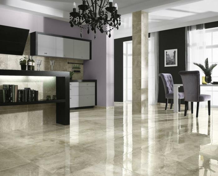 Fußboden Küche Modern » Bodenbelag für küche 6 ideen für ...