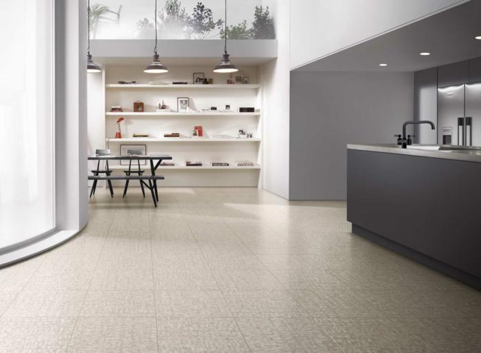 küche bodenbelag vinylboden küchenideen
