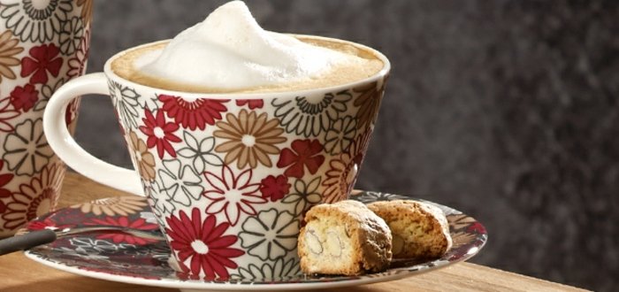 kaffeeservice caffe club fiori blumen muster