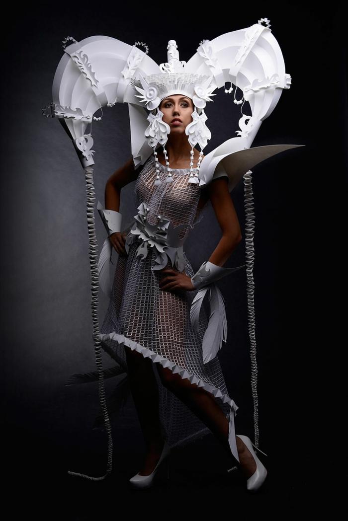 karnevalskostüm faschingskostüm weiße papier mongolische hochzeit kostüme