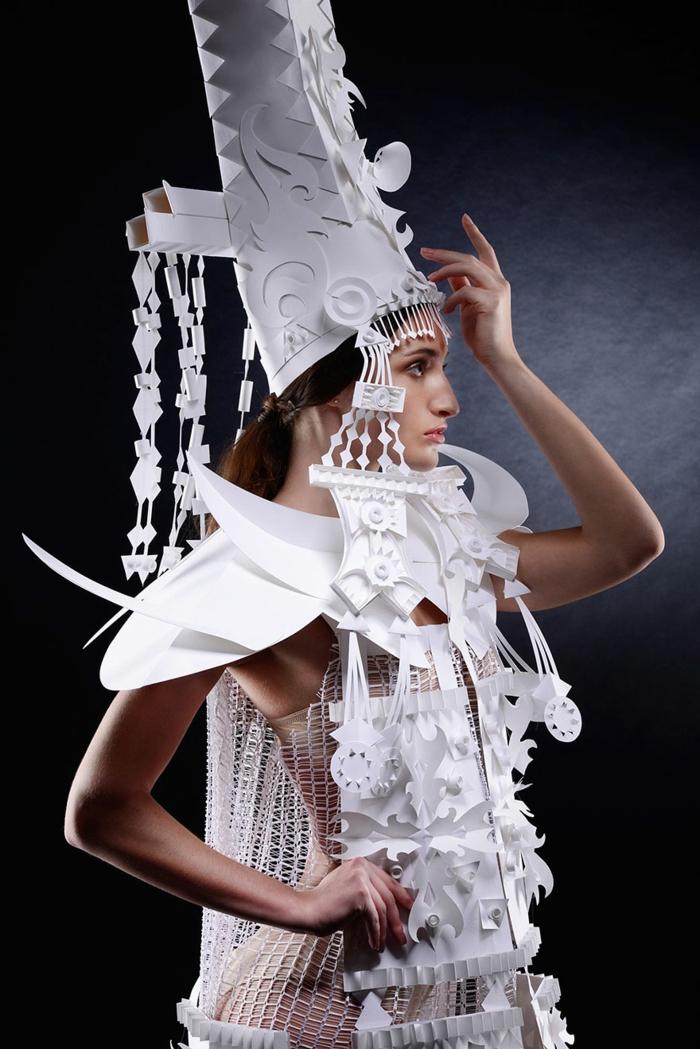 karnevalskostüm faschingskostüm weiße papier spitze mongolische hochzeit kostüm