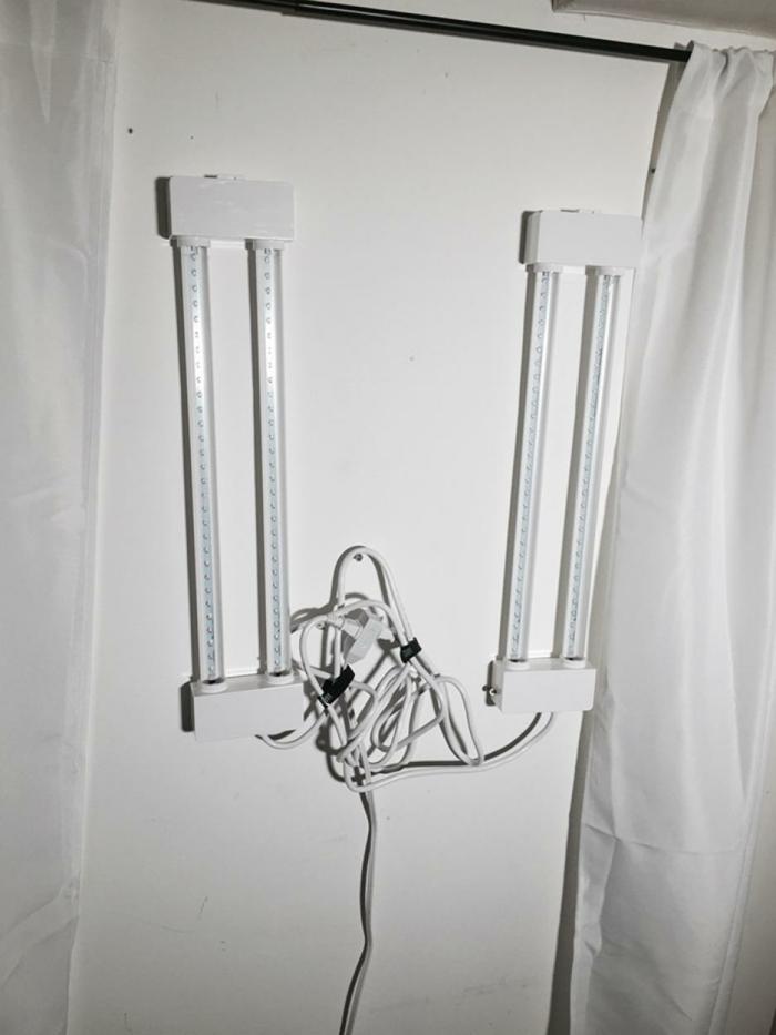 kellerfenster einbauen gardine röhrenlampen