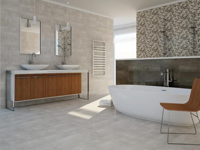 keramikfliesen badideen bodenbelag badewanne hängeleuchten
