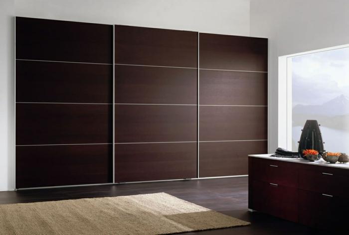 design kleiderschrank schiebetüren schlafzimmer einrichten