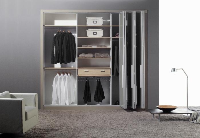 kleiderschrank design funktional wohnideen mobiliar schlafzimmer teppichboden