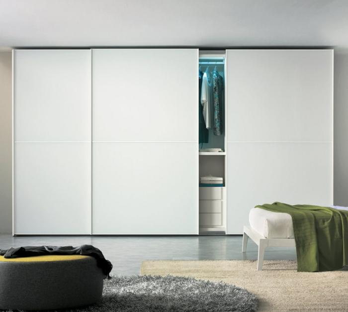kleiderschrank design minimalistisch weiß wohnideen schlafzimmer