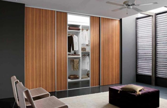 kleiderschrank design schiebetüren funktional modern ankleidezimmer