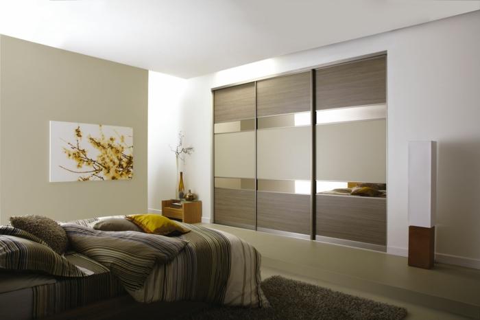kleiderschrank design schiebetüren schöne frontseite dekoideen schlafzimmer