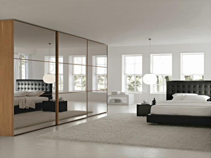 kleiderschrank mit schiebet ren 55 moderne. Black Bedroom Furniture Sets. Home Design Ideas