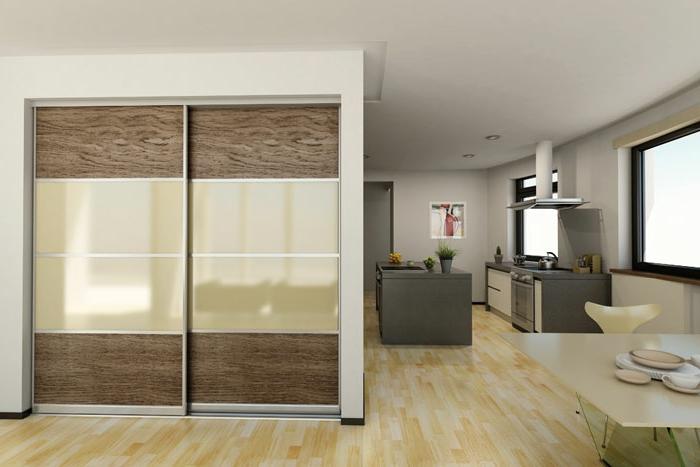 kleiderschrank design schiebetüren stilvolle frontseite