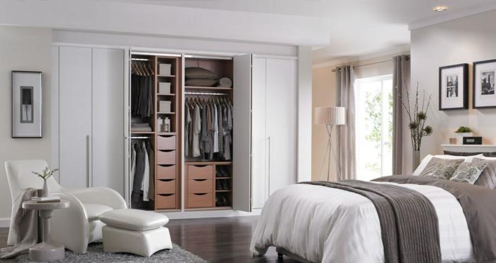 kleiderschrank design weißer kleiderschrank wohnideen schlafzimmer